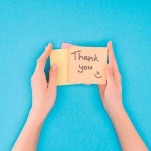 Diferentes maneras de dar las gracias en inglés