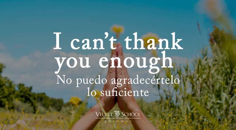 maneras de dar las gracias en inglés